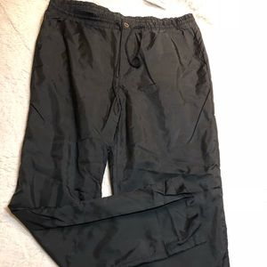 Black Windbreaker Pants